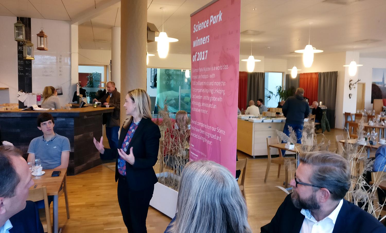 Linkura uppmärksammades på Award Winners Lunch i Mjärdevi