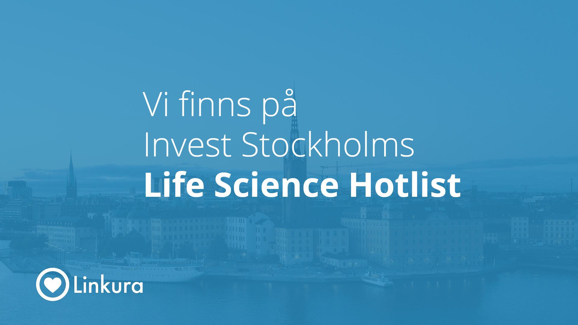 Linkura antagna på Invest Stockholms Life Science Hotlist